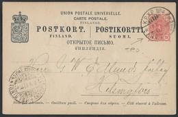 788d.Postcard. Russian Finland. Mail 1897 TPO № 4 Helsingfors. Railway Post. - 1856-1917 Administration Russe