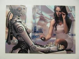 Chess Game Women Vs Robot - Schach  - Ajedrez - Echecs - Echecs
