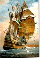 "** CARAQUE Extrait De ""Marine"" De Pierre JOUBERT Dessin Original ** Carte NEUVE - Bateaux"