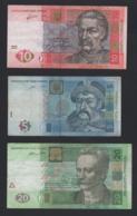 Lotto 3 Banconote Ucraina (5 - 10 - 20 - 10000 Hryven) - Ucraina
