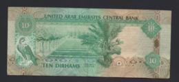 Banconota Emirati Arabi  10 Dirhams Circolata - Emirati Arabi Uniti
