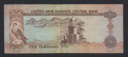 Banconota Emirati Arabi 5 Dirhams 2004 Circolata - United Arab Emirates