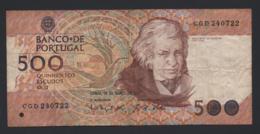 Banconota Portogallo  500 Escudos 1982 - Portugal
