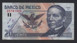Banconota Messico - 20 Pesos 1998, Circolata - Mexique
