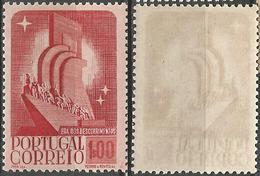 PORTUGAL 8º Centenario -1E- 1940- Afinsa 597- MNHOG- Excellent - Nuevos