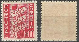 PORTUGAL Tudo Pela Naçao -1$00- 1935- Afinsa 572- MH- Excellent - Nuevos