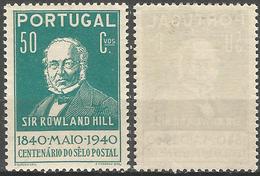 PORTUGAL 1º Centenario Selo -50C- 1940- Afinsa 602- MLH- Excellent - Nuevos