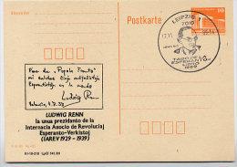 ESPERANTO LUDWIG RENN DDR P86II-48-89 C74 Privater Zudruck Leipzig Sost. 1989 - Esperanto