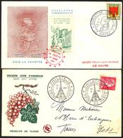 {F073} France 1957 IV 2 FDC See Scan !! - FDC