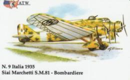 PREPAID PHONE CARDS-ATW-AEREI II GUERRA MONDIALE- 9 - Italie