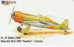 PREPAID PHONE CARDS-ATW-AEREI II GUERRA MONDIALE- 27 - Italie