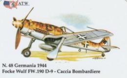 PREPAID PHONE CARDS-ATW-AEREI II GUERRA MONDIALE- 48 - Italie