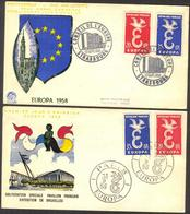 {F076} France 1958 Europa Cept 2 FDC See Scan !! - FDC