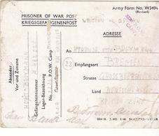 PRISONNIER DE GUERRE ALLEMAND EN BELGIQUE CAMP 2226 ZEDELGEM VERS BREMEN  CENSURE 2226 POW CAMP - Militaria
