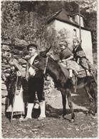 Pyrénées  Atlantiques : Le  Béarn , Vallée  D '  OSSAU , Départ Pour La  Foire , Avec L '  Ane - Francia
