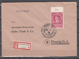 DR 1944,Mi 887 Mit Randstück Und Sp.stempel Und Einschreiben (D2682) - Alemania