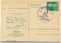 Esperanto Ludwig Renn DDR P79-11-81 C146 Postkarte ZUDRUCK Karl-Marx-Stadt Sost. 1981 - Esperanto