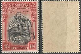 PORTUGAL Independencia Portugal -48C-1927- Afinsa 430- MNHOG- Excellent - Nuevos