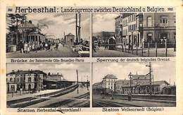 Herbesthal - Landesgrenze Zwischen Deutschalnd U. Belgien (Station, Animation, Grenze, Feldpost 1915) - Welkenraedt
