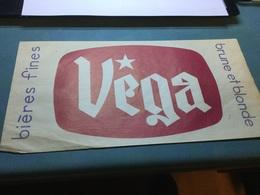Calot Chapeau Publicitaire Papier Brasserie Bières VEGA - Advertising