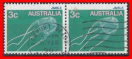 AUSTRALIA (OCEANIA) 2 SELLOS DIFERENTES SERIE DE USO CORRIENTE. - Oficiales