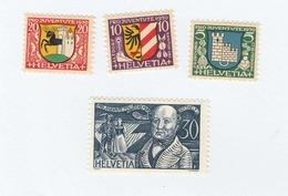 SUISSE N°  246/249 Neufs **   Cote 6,50 Euros - Switzerland
