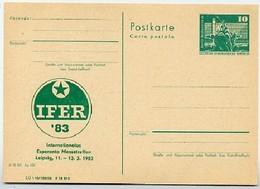Esperanto-Messetreffen Leipzig DDR P79-1-83 C215 Postkarte Zudruck 1983 - Esperanto