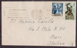 YN129  Spain 1965 Letter Sent From Puerto De La Cruz To Bari Italy - 1931-Aujourd'hui: II. République - ....Juan Carlos I