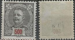 PORTUGAL D. Carlos -500r-1895- Porcelana- Afinsa 139- MH- Excellent - Nuevos