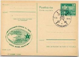 Esperanto Weltfriedenstag Leipzig DDR P79-31-82 C200 Postkarte Zudruck Sost. 1982 - Esperanto