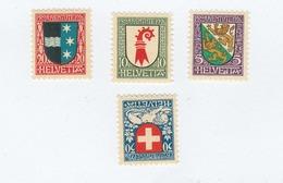 SUISSE N°  222/225  Neufs **   Cote 8,00 Euros - Switzerland