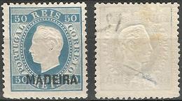 PORTUGAL MadeiraD.Luis 1879- 50r- 12X- Afinsa 28- MH- Thin - Madeira