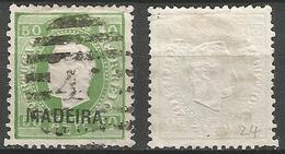 PORTUGAL Madeira D.Luis 1871- 50r- 12X- Sob C Afinsa 18- Used- Small Fold - Madeira
