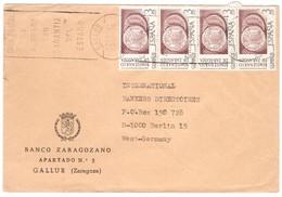 YN130  Spain 1976 Letter Sent From Gallur To Berlin Germany - 1931-Aujourd'hui: II. République - ....Juan Carlos I