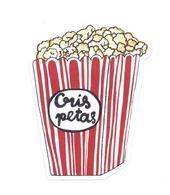 Adesivo Calcomania Sticker Popcorn Cris Petas Dimensioni Cm 7,5x5,5 Circa Forma Segue Silhouette Figura - Adesivi