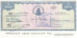 Zimbabwe 50000 Dollars 2003 AUNC Traveller Cheque - Zimbabwe