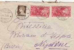 LETTERA 1933 CON 2X20 CENT. X ANNUALE +10 CENT TIMBRO ROVATO (LV17 - Storia Postale