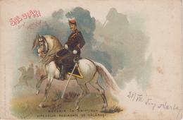 RO130    --   SALUTARI DIN ROMANIA  ~  SUVENIR IN AMINTIREA  ~~  VITEZELOR REGIMENTE CALARASI  --  1900 - Roumanie