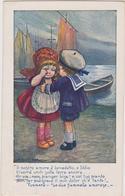 Cartolina Illustrata BERTIGLIA, Saluti Del Marinaio  - F.p.  - Anni  '1910 - Bertiglia, A.