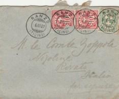 LETTERA 1907 SVIZZERA TIMBRO RANZO-TICINO (UN BOLLO SCIUPATO) (LV44 - Svizzera