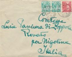 LETTERA 1936 SVIZZERA 5+5+20 - TIMBRO AUX-SUR MONTREAUX (LV46 - Svizzera