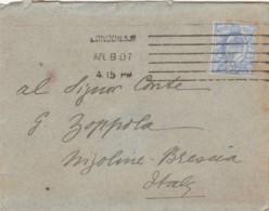 LETTERA 1907 REGNO UNITO 2 1/2 PENNY TIMBRO LONDON (LV69 - Storia Postale