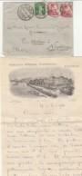 LETTERA 1910 SVIZZERA 2X10+5 TIMBRO CAUS TERRITET -GRAND HOTEL GENEVE (LV74 - Svizzera