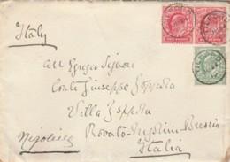 LETTERA 1910 REGNO UNITO 2X1+0,5 PENNY TIMBRO TILFORD (LV77 - Storia Postale