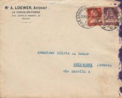 LETTERA 1920 SVIZZERA TIMBRO LA CHAUX (LV81 - Svizzera