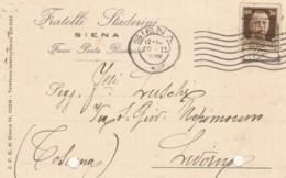 CARTOLINA POSTALE 1936 CENT.30 TIMBRO SIENA-FORI ARCHIVIAZIONE (LV160 - Storia Postale