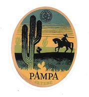 Adesivo Calcomania Sticker Argentina Pampa Cetebe Cavaliere Cactus Dimensioni Cm 6x7,5 Circa Forma Segue Silhouette Figu - Adesivi
