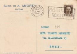 CARTOLINA POSTALE 1935 CENT.30 TIMBRO ANCONA PRESTITO NAZIONALE (LV282 - 1900-44 Vittorio Emanuele III