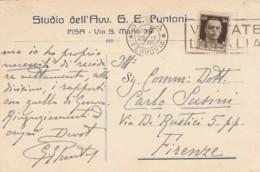 CARTOLINA POSTALE 1940 CENT.30 TIMBRO PISA VISITATE L'ITALIA (LV283 - 1900-44 Vittorio Emanuele III