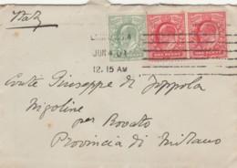 LETTERA 1901 1+1+1/2 PENNY REGNO UNITO TIMBRO LONDON (LV350 - Storia Postale